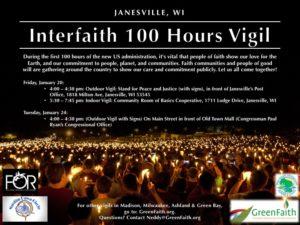 Interfaith Vigil In Janesville Starting Friday January 20